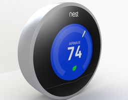 Nest Thermostat home 3D