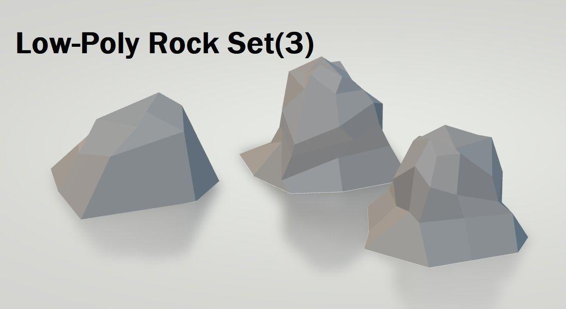 Low-Poly Rock Set-3