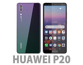 3D model Huawei P20 Twilight