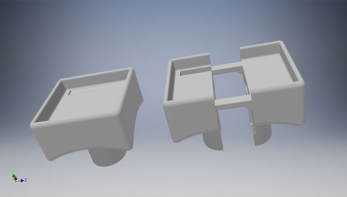 rubics cube middle part 3d model stl 1