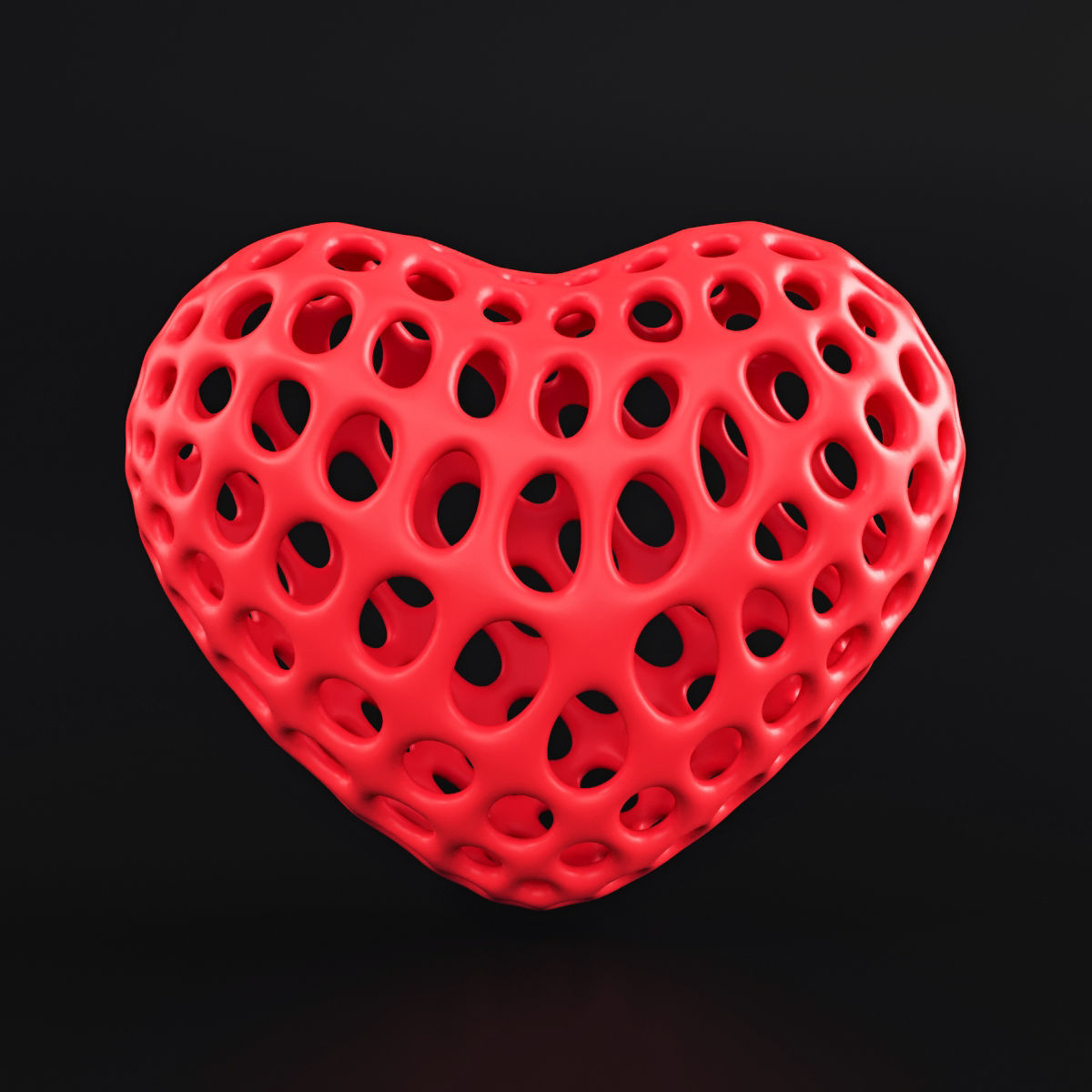 Heart Symbol Wireframe