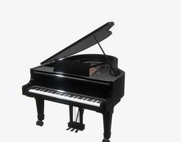 3D model Highly detailed Big Piano PBR
