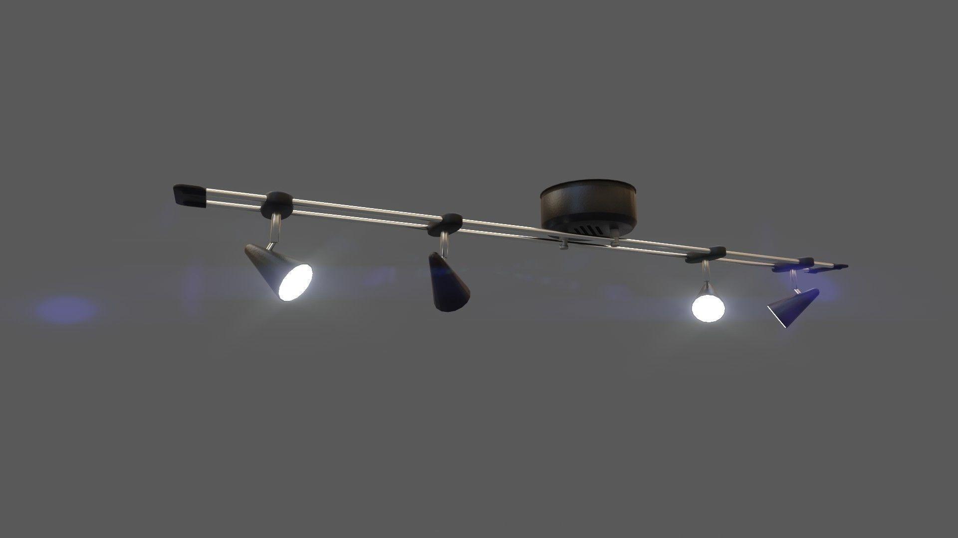 Halogen Ceiling Light With Ue4 Blueprint Game 3d Model