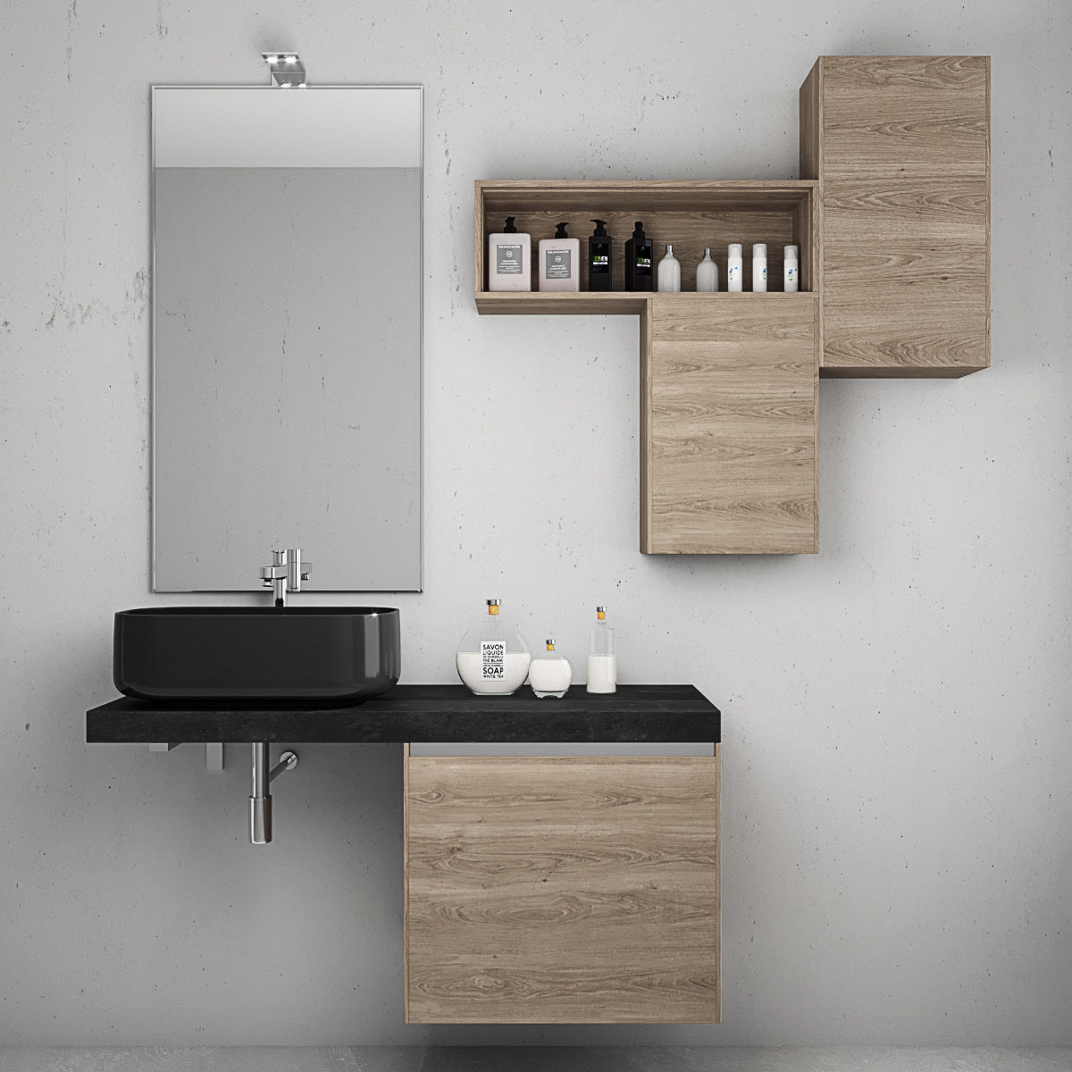 Bathroom furniture set Arcom eGo 3 3D | CGTrader