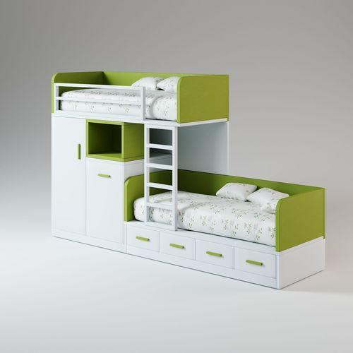 green two story bed 3d model max obj mtl fbx 1
