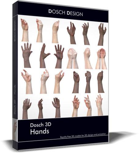 dosch 3d - hands 3d model obj mtl 3ds fbx c4d lwo lw lws dae 1