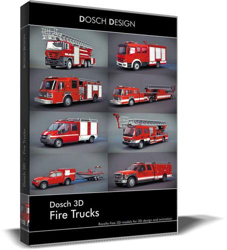 dosch 3d - fire trucks 3d model max obj mtl 3ds fbx c4d lwo lw lws 1