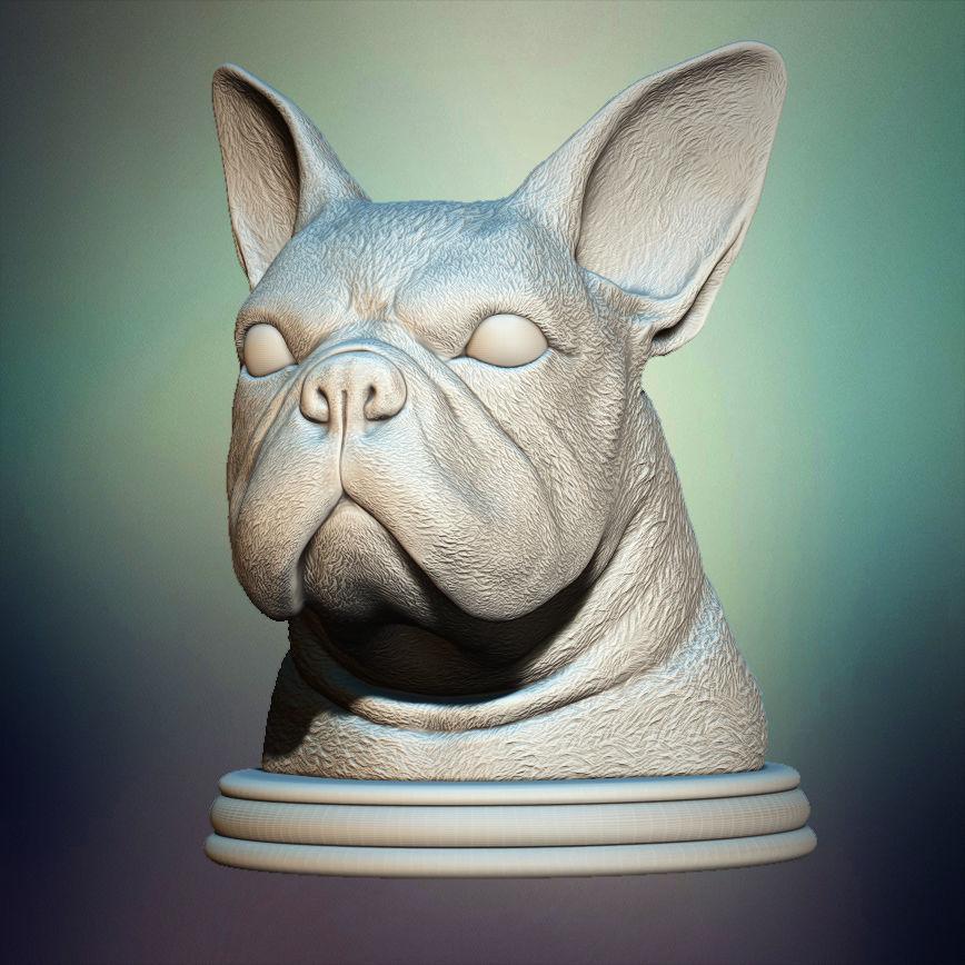 French Bulldog Bust