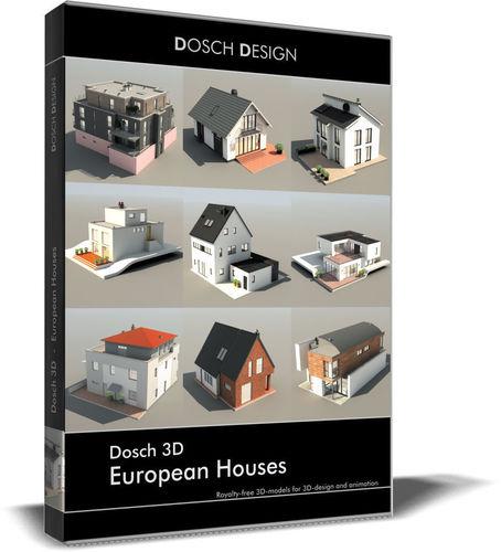 dosch 3d - european houses 3d model max obj mtl 3ds fbx c4d lwo lw lws 1