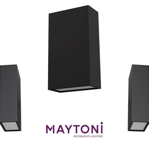 wall lamp o581wl-l6b maytoni outdoor free 3d model 3d model max obj mtl 1