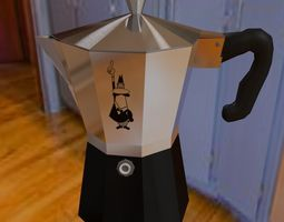 coffee maker 3D model low-poly