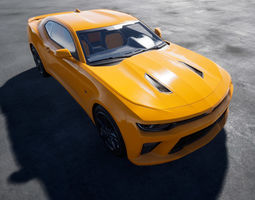 Chevrolet Camaro SS 3D model rigged