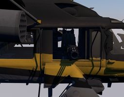 pack of three military gunship helicopter 3D model
