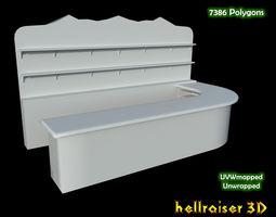 3D model game-ready Bar Counter