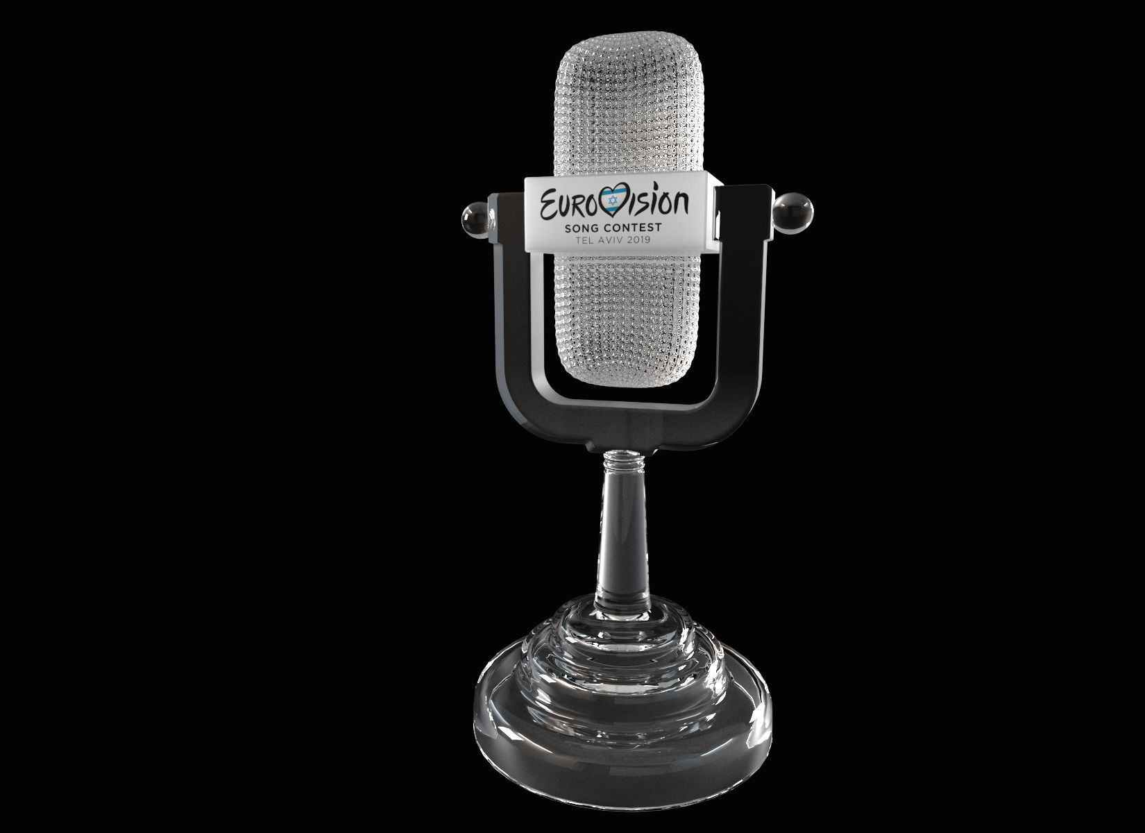 The Eurovision Glass Microphone Trophy | 3D model