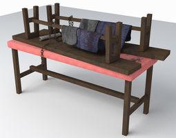 Abandoned Table Set Design 1 3D model