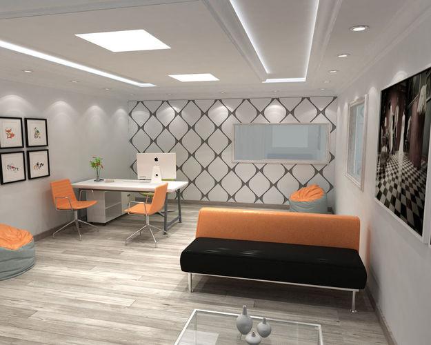 office interior design  3d model max 1