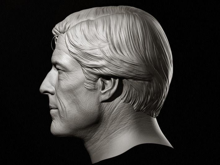 Robert Redford Head Sculpture