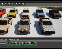 Pickup Vehicle Pack 3D model