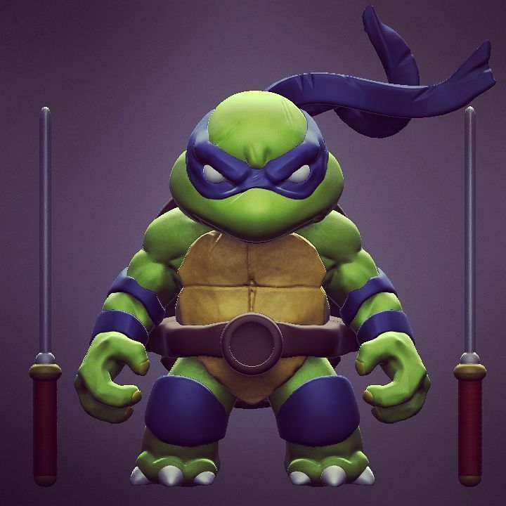 3D printable model Chibi mutant ninja turtles - Leo Sample