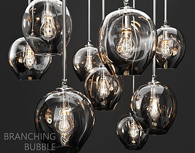 3D Branching bubble 1 lamp by Lindsey Adelman DARK SILVER