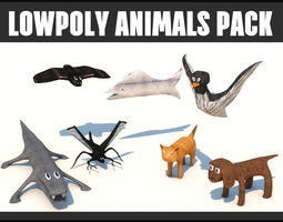 LOWPOLY RIGGED ANIMALS PACK 3D model game-ready