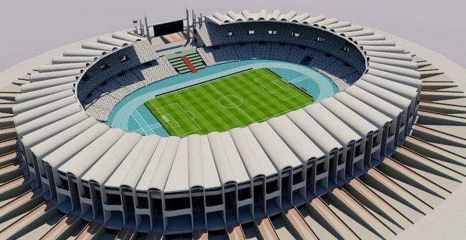 zayed sports city stadium - abu dhabi 3d model obj mtl fbx dxf dae dwg skp 1
