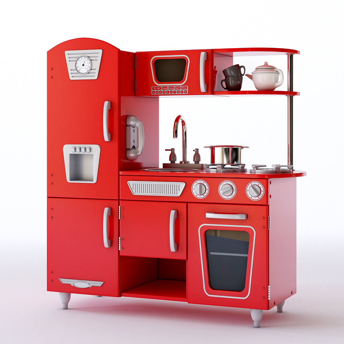 3d Model Kidkraft Vintage Play Kitchen Cgtrader