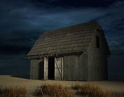 A 3D model of old farm houses VR / AR ready