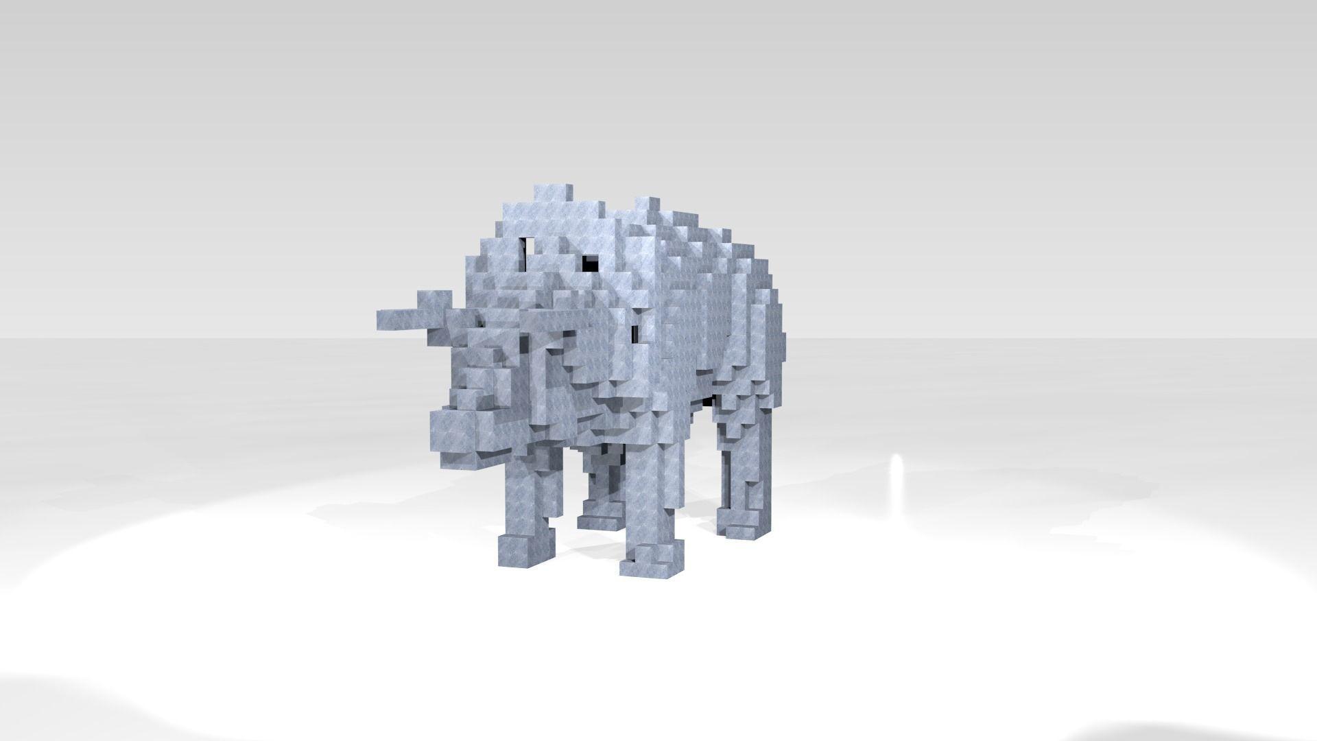 Triceratops Voxel | 3D model