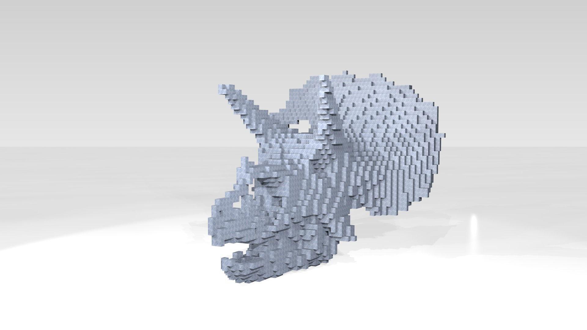 Triceratops Skull Voxel | 3D model