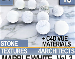Marble White and Materials Vol 3 3D