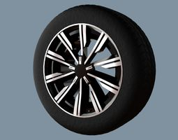 AS rims collection 2 - VW Tirano 3D asset