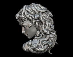 3D print model Medusa Bas-Relief