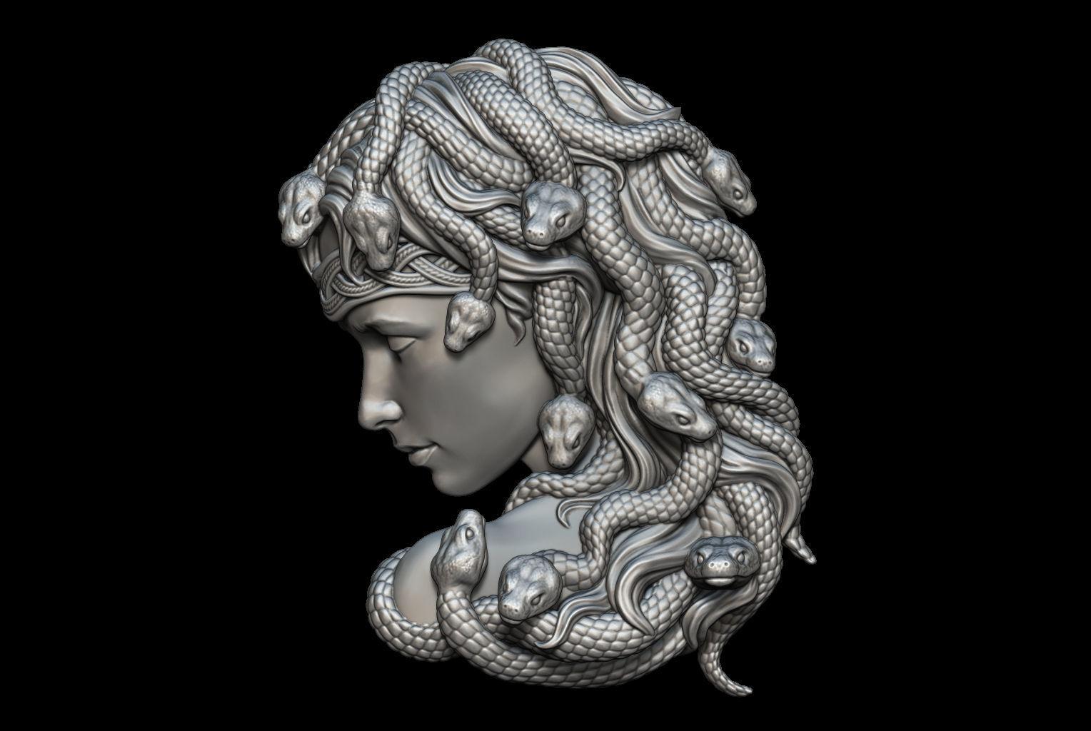 Medusa Bas-Relief