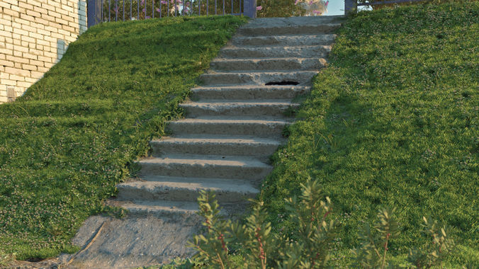 stairs 3d model obj mtl 3ds fbx stl 1
