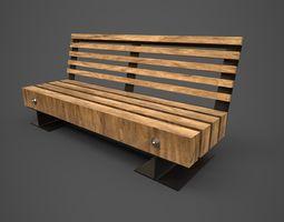 3D model Park bench - PBR - lowpoly
