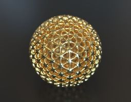 Geometry Globe mathematics 3D print model