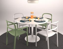 3D model Ikea Table set and Tableware