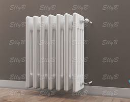 3d model radiator with thermostatic valve