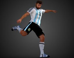 Lionel Messi 3D model animated spain