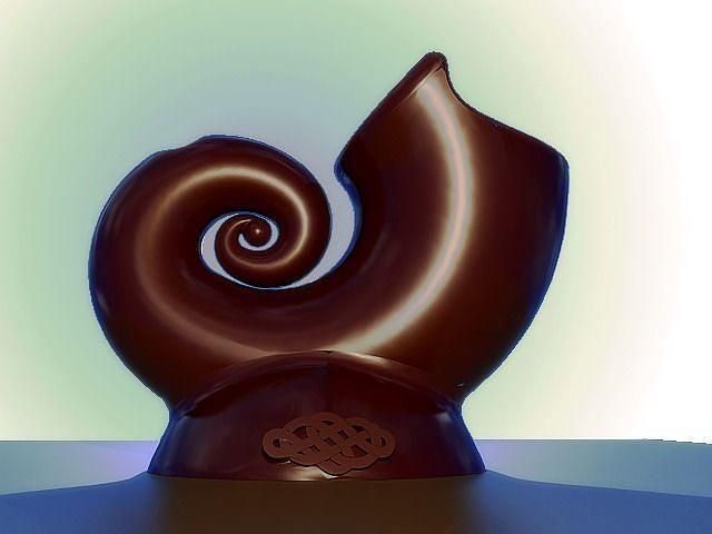 snail vase 3d model stl 1