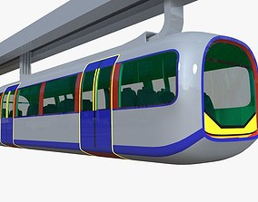 3D model Elevated train - monorail