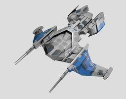 SpaceShip 3D asset low-poly