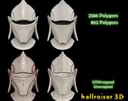 3D asset Medieval Helmet - 2 Objects