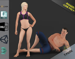 3D asset White People Pack