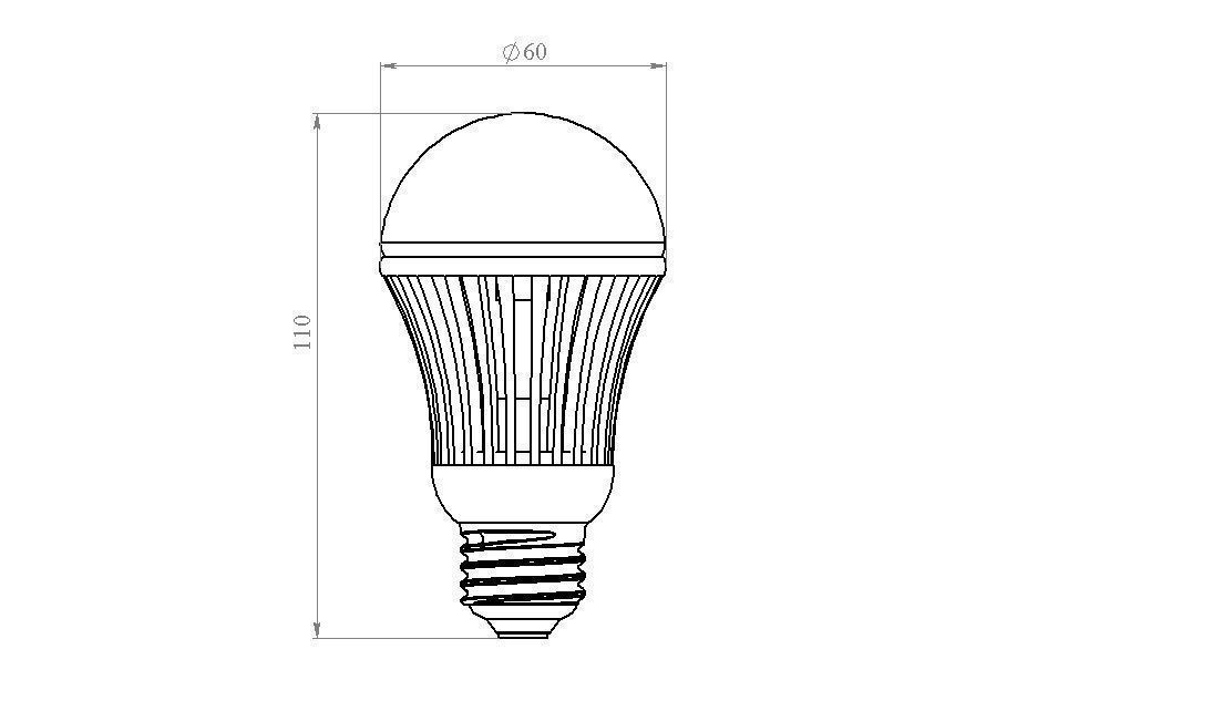 led lightbulb e27 3d model sldprt sldasm slddrw