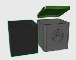 3d printable model storage box