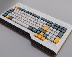 3D Retro Modern Keyboard