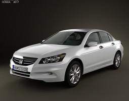 3d model honda accord sedan 2012